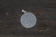 Ancient Smithy VW jewelry Pentagram Necklace with Wicca Ornament Sterling Silver Handmade Jewelry CS108
