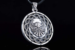 Ancient Smithy VW jewelry Viking Pendant Sterling Silver Handmade Jewelry