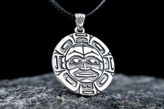 Ancient Smithy VW jewelry Aztec Symbol Pendant Sterling Silver Handmade Jewelry