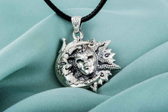 Ancient Smithy VW jewelry Venetian Mask Pendant Sterling Silver Handmade Jewelry
