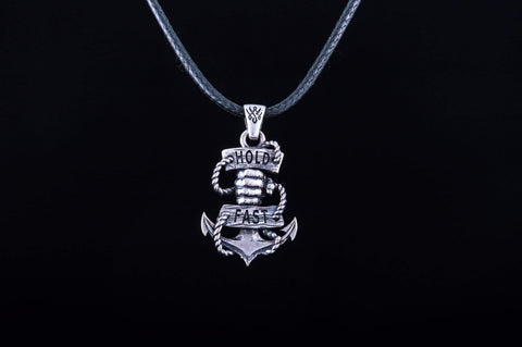 Anchor Symbol Pendant with Hand Sterling Silver Handcrafted Jewelry