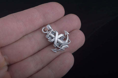 Ancient Smithy VW jewelry Anchor Symbol Pendant Sterling Silver Handcrafted Jewelry CS162