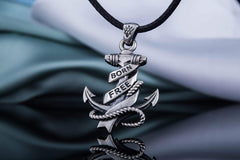 Anchor Symbol with Rope Pendant Sterling Silver Handcrafted Jewelry