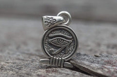Ancient Smithy VW jewelry Uajet Amulet Pendant Sterling Silver Egypt Unique Jewelry