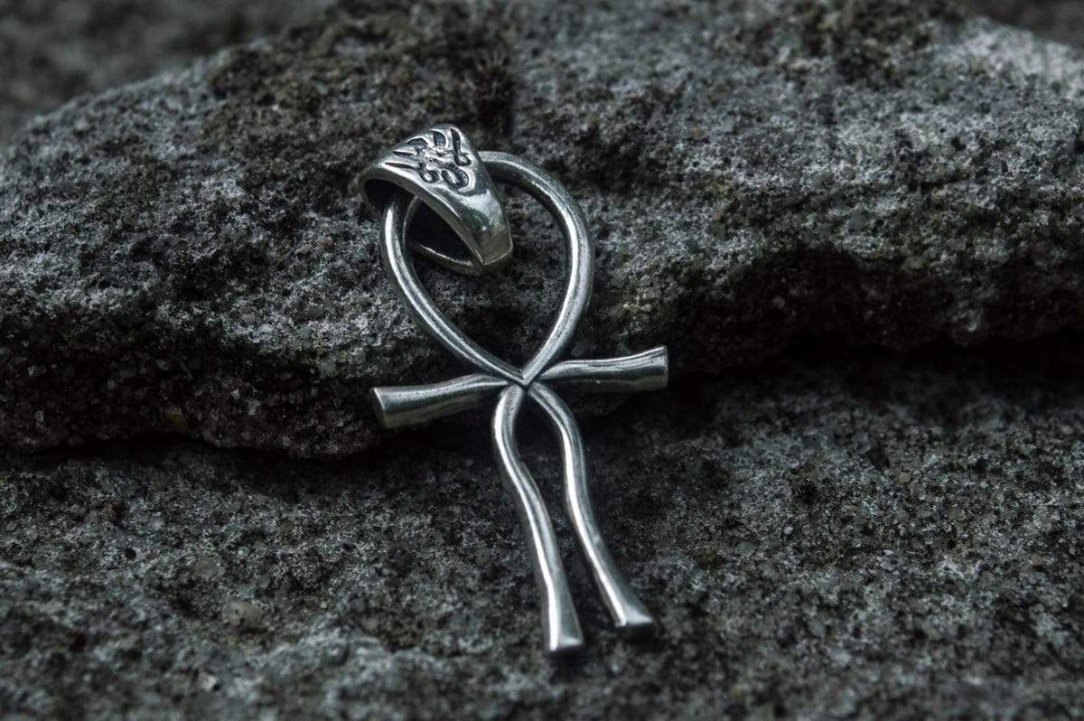 Ankh Symbol Egypt Pendant Sterling Silver Unique Jewelry