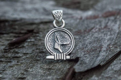 Ancient Smithy VW jewelry Anubis Amulet Pendant Sterling Silver Egypt Unique Jewelry
