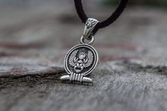Ancient Smithy VW jewelry Scarabeus Amulet Pendant Sterling Silver Egypt Unique Jewelry