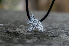 Ancient Smithy VW jewelry Unique Handmade Anubis Egypt Pendant Sterling Silver Viking Jewelry