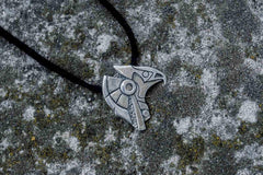 Unique Handmade Horus Egypt Pendant Sterling Silver Viking Jewelry