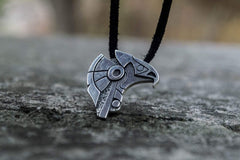 Ancient Smithy VW jewelry Unique Handmade Horus Egypt Pendant Sterling Silver Viking Jewelry