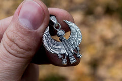 Ancient Smithy VW jewelry Handmade Horus Egypt Pendant Sterling Silver Unique Jewelry
