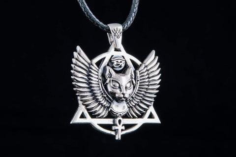 Ancient Smithy VW jewelry Bastet Pendant Sterling Silver Egypt Jewelry