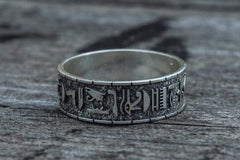 Ancient Smithy VW jewelry Egypt Symbols Handcrafted Ring Sterling Silver Jewelry