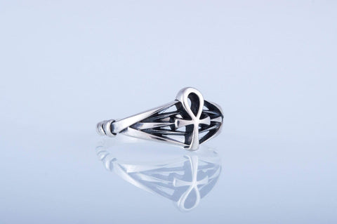 Ankh Egypt Ring Sterling Silver Jewelry