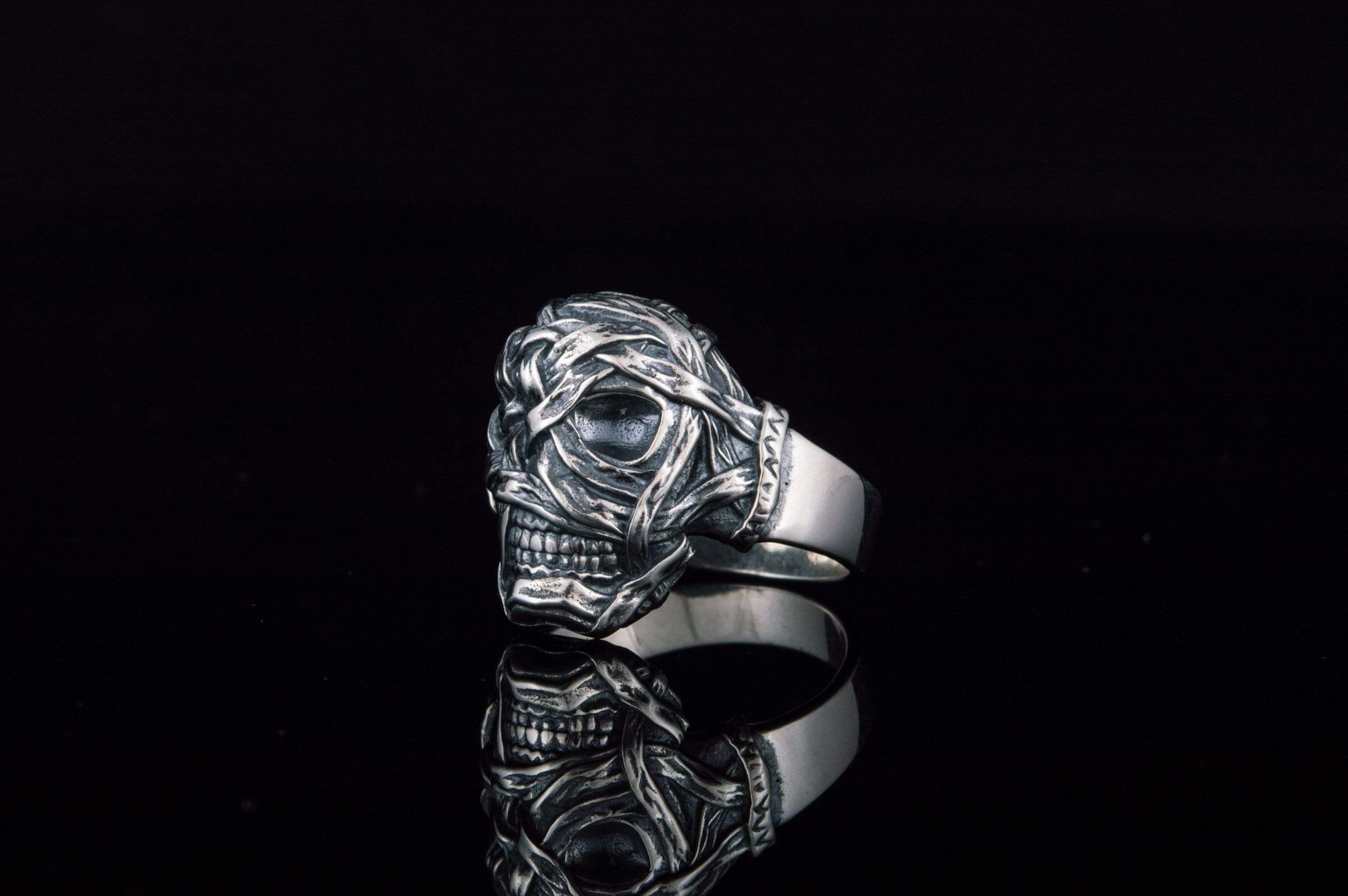 Ring with Mummy Sterling Silver Egypt Jewelry