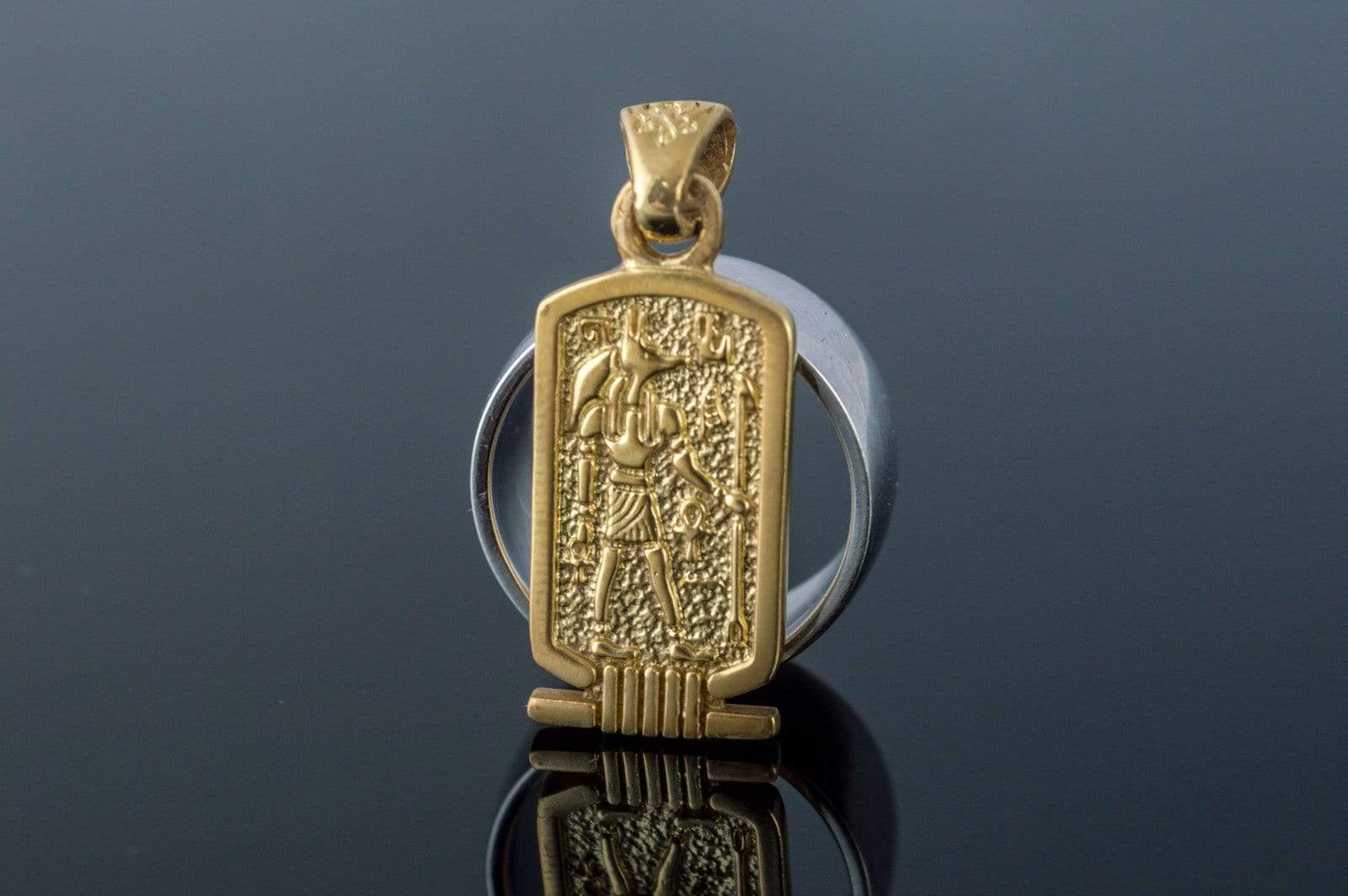 Ancient Smithy VW jewelry Anubis Pendant Gold Egypt Jewelry