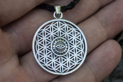 Ancient Smithy VW jewelry Flower of Life Pendant Sterling Silver Unique Jewelry
