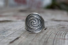 Ancient Smithy VW jewelry Unique Ring with Geometry Symbol Sterling Silver Jewelry