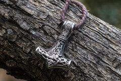Ancient Smithy VW jewelry Thor's Hammer Pendant Sterling Silver Mjolnir from Mammen Village