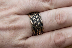 Ancient Smithy VW jewelry Unique Ring with Viking Ornament Scandinavian Bronze Jewelry