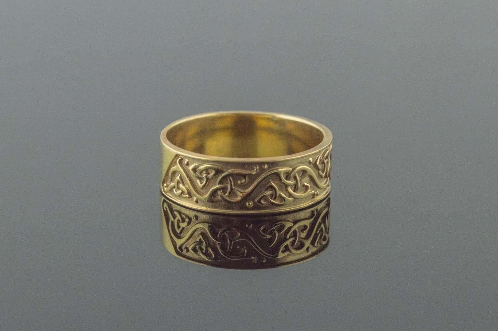 Ancient Smithy VW jewelry Beautiful Ornament Ring Gold Viking Jewelry