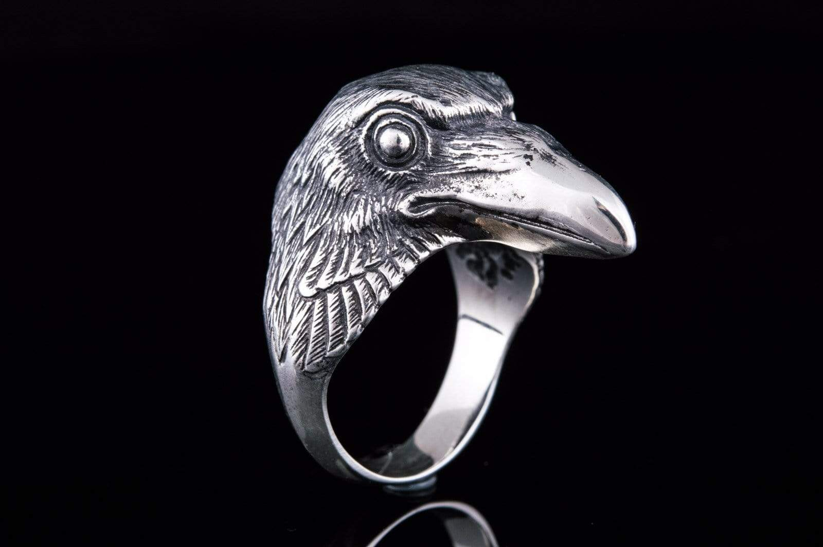 Ancient Smithy VW jewelry Raven Sterling Silver Viking Ring