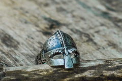 Ancient Smithy VW jewelry Viking Helmet Sterling Silver Unique Ring Viking Jewelry