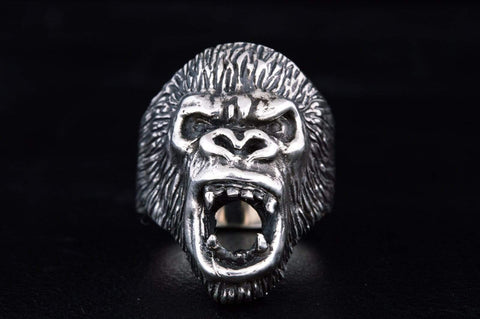Ape Sterling Silver Animal Monkey Ring Unique Jewelry