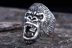 Ancient Smithy VW jewelry Ape Sterling Silver Animal Monkey Ring Unique Jewelry