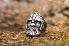 Viking Ring Sterling Silver Scandinavian Ring Norse Jewelry