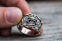Ancient Smithy VW jewelry Anchor Symbol with Chain Sterling Silver Unique Ring