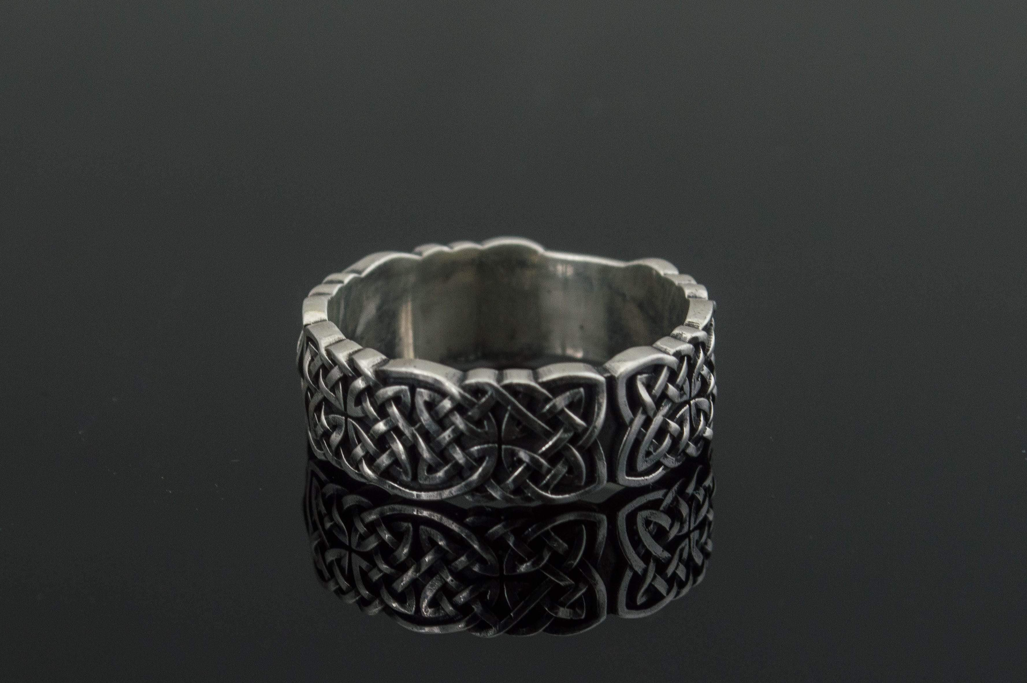 Norse Ornament Ring Sterling Silver Unique Jewelry