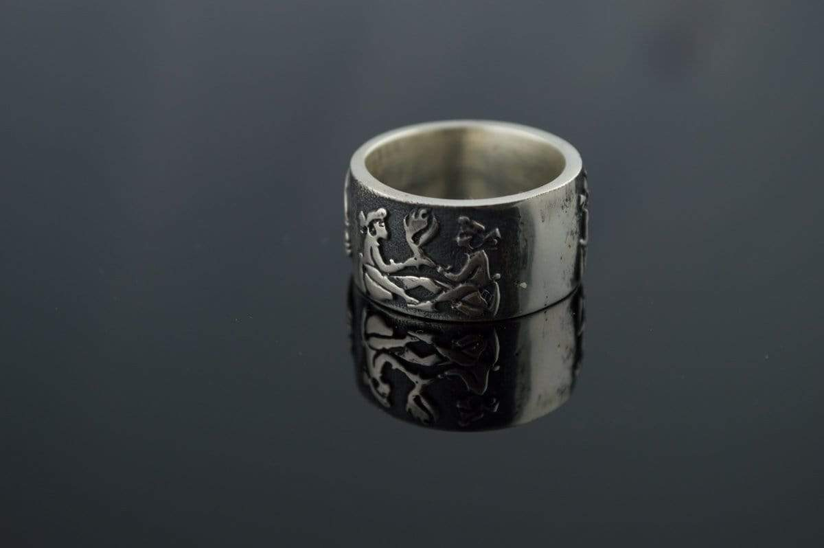 Ancient Smithy VW jewelry Unique Ring Sterling Silver Norse Handmade Jewelry