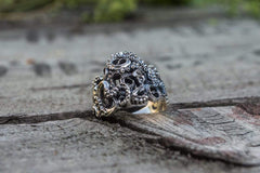 Ancient Smithy VW jewelry Kraken Symbol Ring Unique Animal Sterling Silver Unique Jewelry