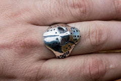 Jason Voorhees Mask Ring Unique Sterling Silver Jewelry