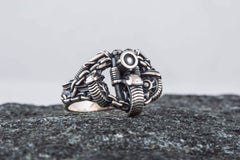Ancient Smithy VW jewelry Motobike Ring Sterling Silver Biker Jewelry