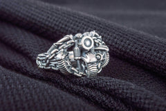 Motobike Ring Sterling Silver Biker Jewelry