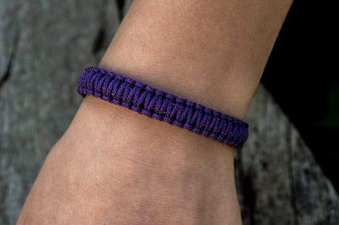 Ancient Smithy VW jewelry Sterling Silver Viking Axe Purple Paracord Bracelet Handmdade Jewelry SAB-005