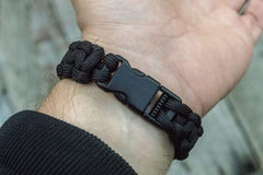 Ancient Smithy VW jewelry Black Paracord Survival Handmade Bracelet SPB-001