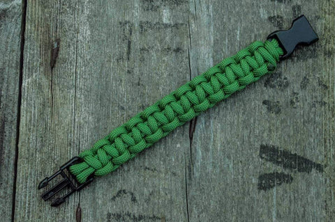 Ancient Smithy VW jewelry Green Paracord Survival Handmade Bracelet SPB-002