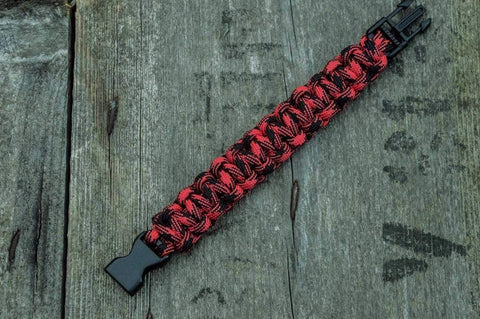 Ancient Smithy VW jewelry Red Paracord Survival Handmade Bracelet SPB-004