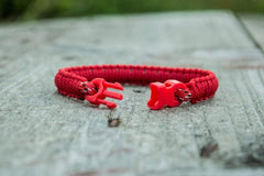 Ancient Smithy VW jewelry Red Survival Small Paracord Handcrafted Bracelet SPB-Small-004