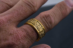 Ancient Smithy VW Rings Gold Nordic Rune Ring Scandinavian Jewelry