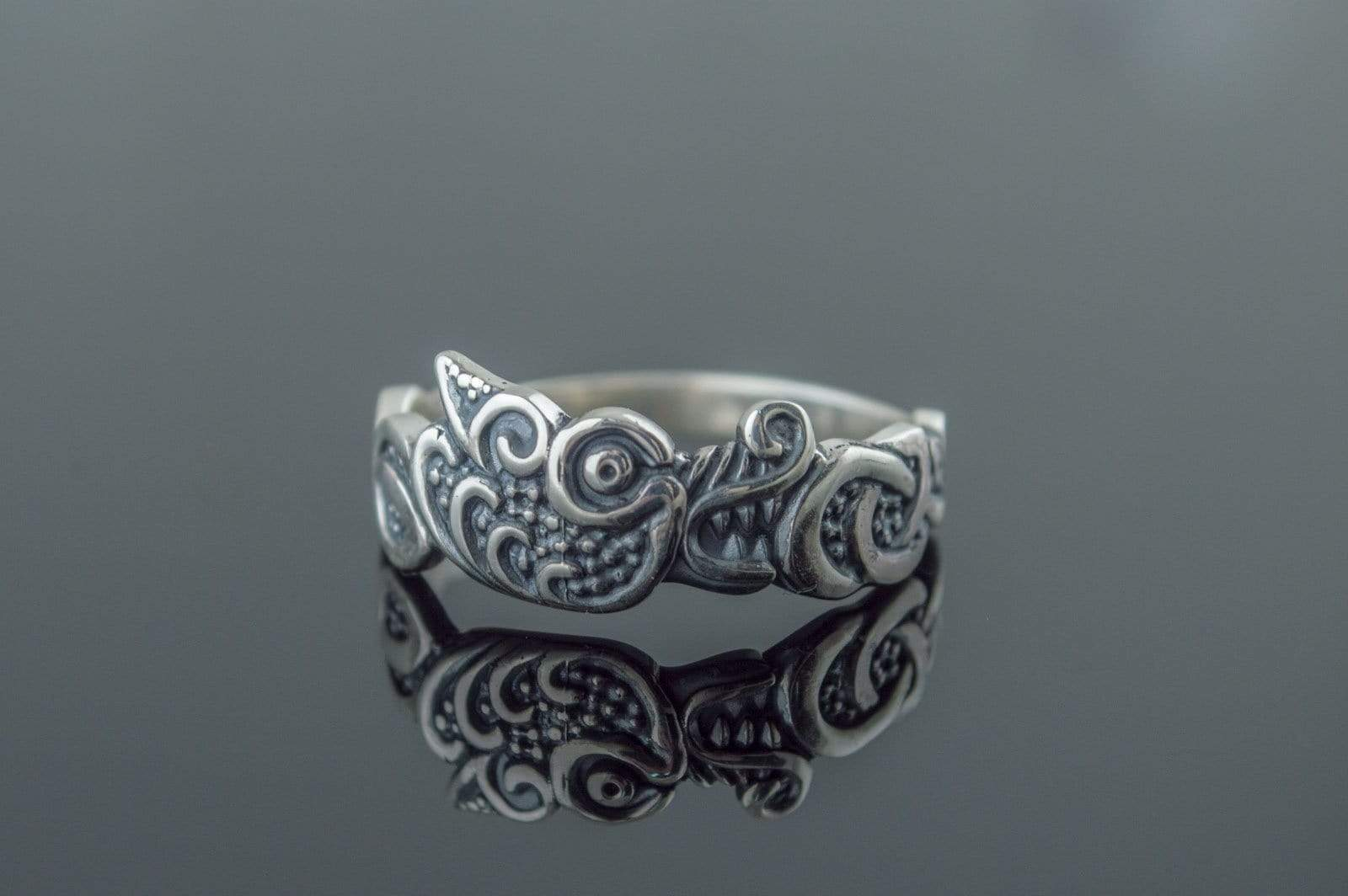 Ancient Smithy VW Rings Fenrisúlfr The Wolf Ring Scandinavian Mythology Jewelry