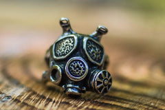 Ancient Smithy VW Rings Mechanical War Gas Mask  Ring Exceptional Jewelry
