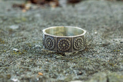 Ancient Smithy VW Rings Beautifully Crafted Ring with Ornament Handmade Jewelry