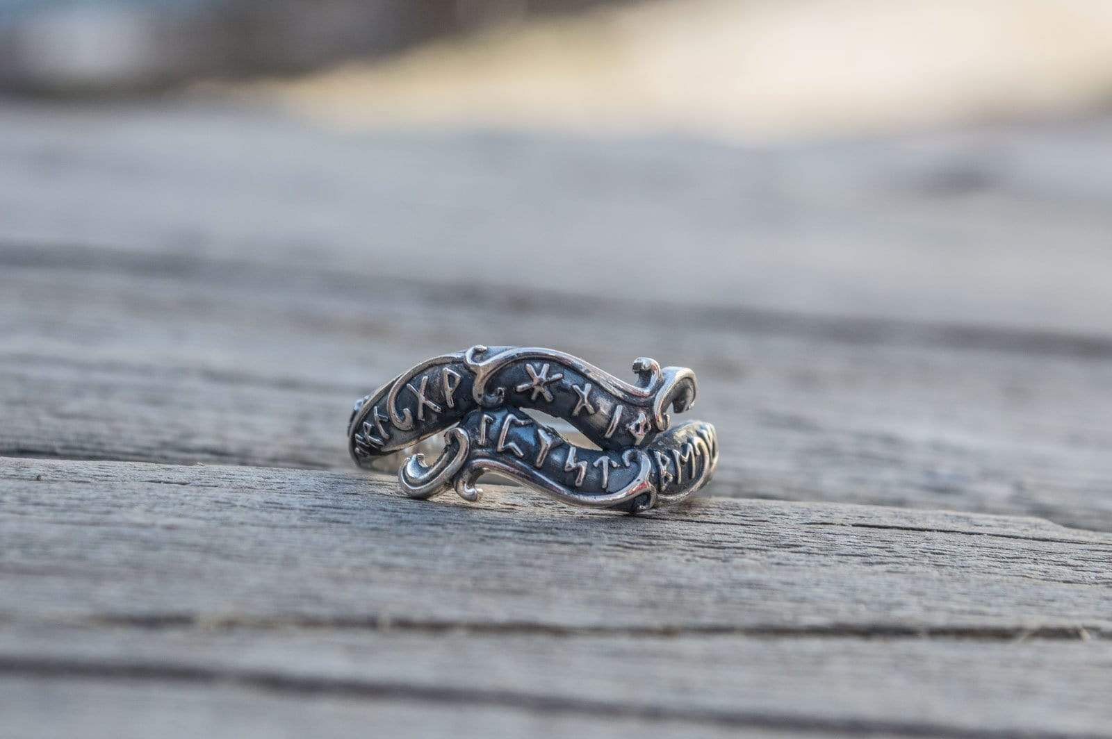 Ancient Smithy VW Rings Solid Rune Ring Pagan Jewelry