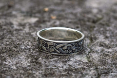 Ancient Smithy VW Rings Authentic Ring With Beautiful  Decoration Quaint Jewelry
