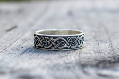Ancient Smithy VW Rings Beautiful Ring With Decor Sterling Silver Scandinavian Jewelry