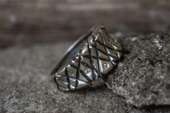 Ancient Smithy VW Rings Ring with Cubic Zirconia Sterling Silver Jewelry